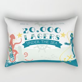 20,000 Lagers Under the Sea Rectangular Pillow