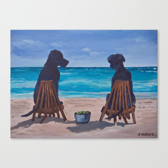 The Perfect Beach Day Canvas Print