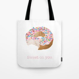 Sweet on You Donut Tote Bag