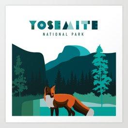 Yosemite National Park - Sierra Nevada Red Fox Art Print