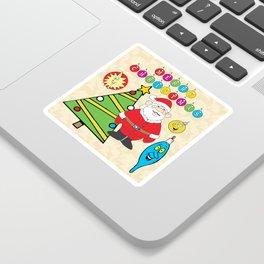 Santa & the Tree Sticker