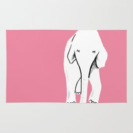 pink elephant of happiness Rug
