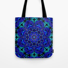 Bright Blue Kaleidoscope Tote Bag