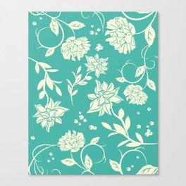 Delicate Blue Sunlight Flowers Blossom Canvas Print