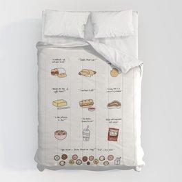 Foods of 30 Rock Comforters