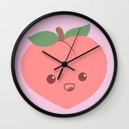 Cute Peach Wall Clock
