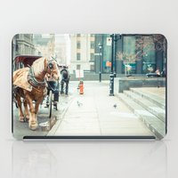 montreal iPad Cases featuring Montreal Taxi by Andy Wright