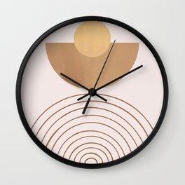 Mid-century Arch Sunset Wall Clock