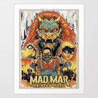 Mad Mar: Rainbow Road Art Print