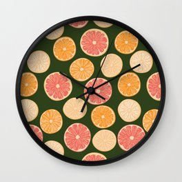 Moody 70's Citrus Wall Clock