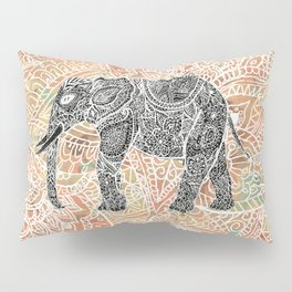 Tribal Paisley Elephant Colorful Henna Floral Pattern Pillow Sham
