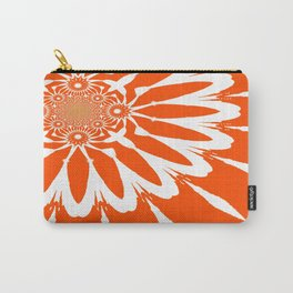 The Modern Flower Orange Carry-All Pouch
