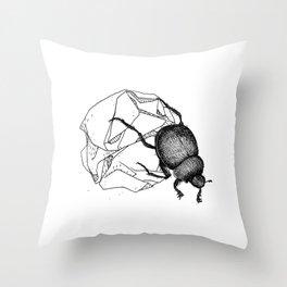 Dung beetle Throw Pillow