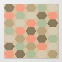 Hexagonal Turquoise Pattern Canvas Print