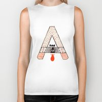 """eugenia loli Biker Tanks featuring a to z - """"A"""" by cardboardcities"""