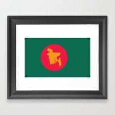 Flag | Bangladesh Framed Art Print