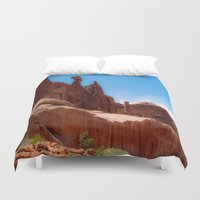 giants Duvet Covers featuring Giants - Moab, Utah by Susy Margarita Gomez