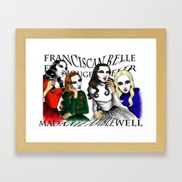The gothic sisters Framed Art Print