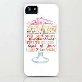 Traditional English Trifle iPhone Case