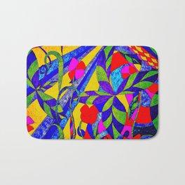 dancing garden in multicolor Bath Mat