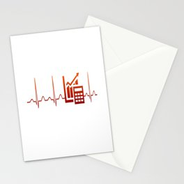 ACCOUNTANT HEARTBEAT Stationery Cards