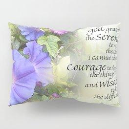 Serenity Prayer Morning Glories Glow Pillow Sham