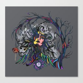 Psychedelic Witch Canvas Print