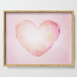 Big Triangle Girly Pink Heart Soft Pink Serving Tray