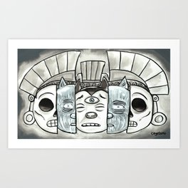 The Mask of Death and Rebirth Art Print