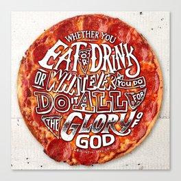 1 Corinthians 10:31 Canvas Print