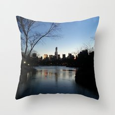 Dusk in the City Throw Pillow