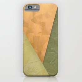 Golden Triangle With Green and Cream - Corbin Henry Color Field iPhone Case