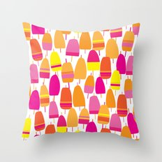 Pink Lobster Buoy Pattern Throw Pillow