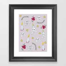 voodoo skulls Framed Art Print