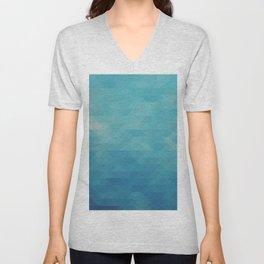 Triangle pattern - Blue Shades Unisex V-Neck