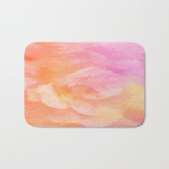 Soft Pastel Floral Blend Bath Mat