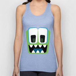 Bubble Beasts: Chilling Cucumber Body Scrub Unisex Tank Top