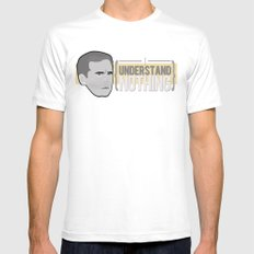 I UNDERSTAND NOTHING MEDIUM Mens Fitted Tee White