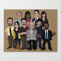 parks and recreation Canvas Prints featuring Parks and Recreation by jasesa