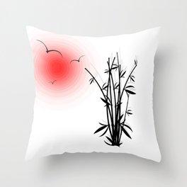 Bambus im Morgenrot Throw Pillow
