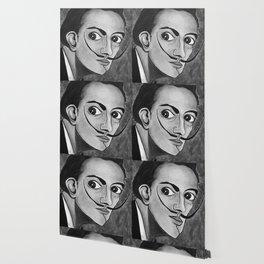 Salvador Dalí black and white portrait Wallpaper