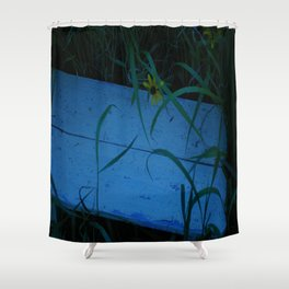 So Blue Bench Shower Curtain