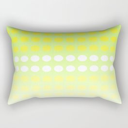 Dots in a Row in Shades of Yellow and Green Rectangular Pillow