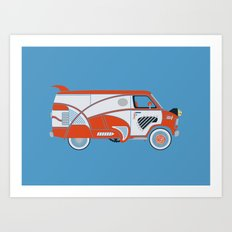 Pee Wee's Big Adventure Van Art Print