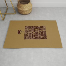 I Can't Stop Drinking the Coffee Rug