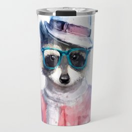 Cute fashion hipster animals pets raccoon Travel Mug