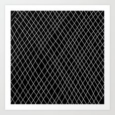 Fishnet Night Art Print