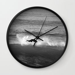 Surfer on the lip. Wall Clock