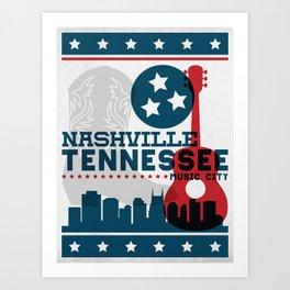 Nashville Tennessee Music City - Hatch Show Print Art Print