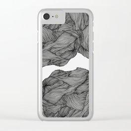 Line ridge Clear iPhone Case